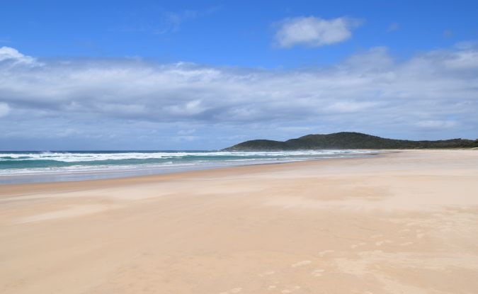 Delicate Nobby beach