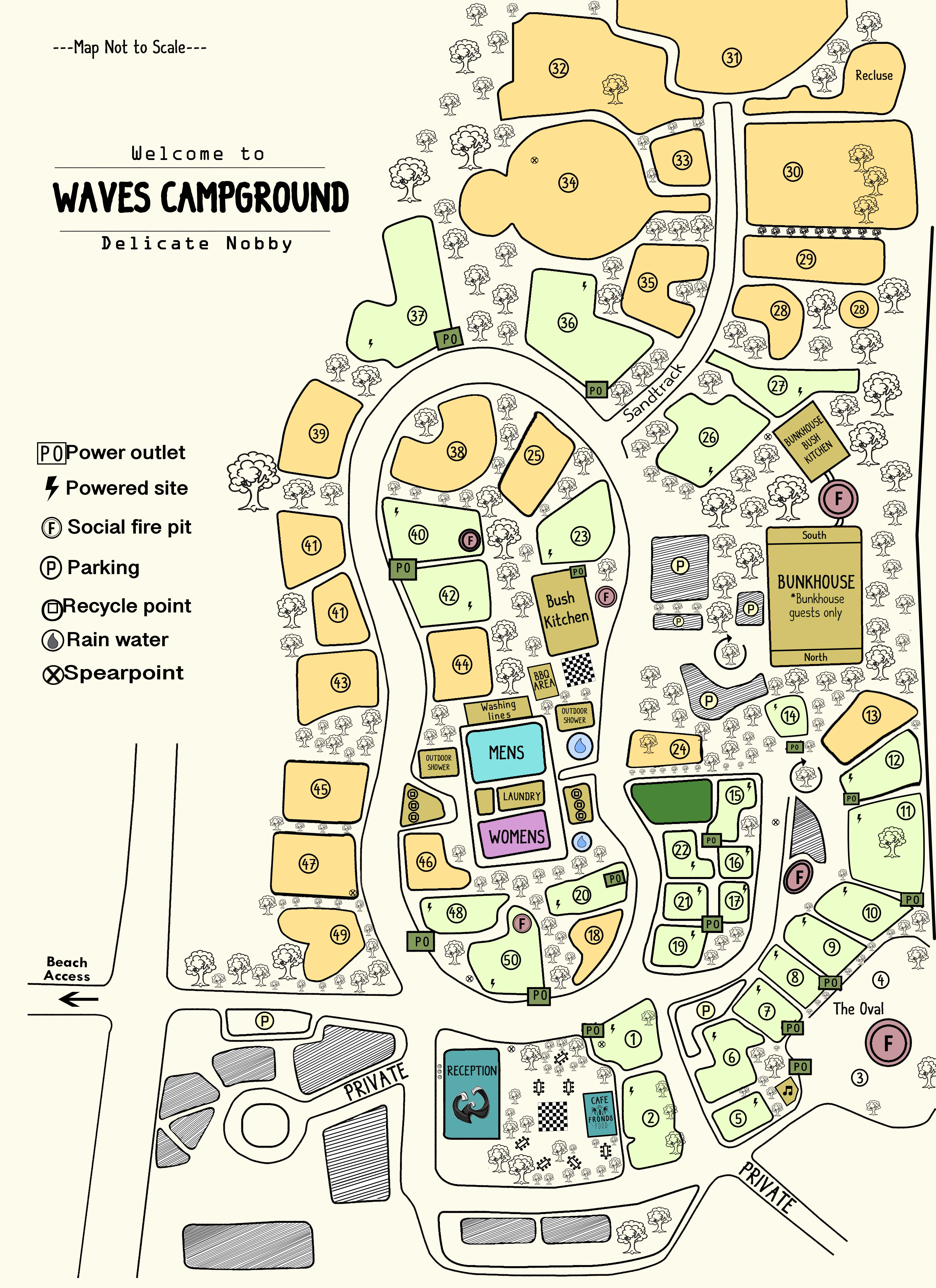 Map of Waves Campground