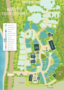 Unnumbered map of Waves Campground
