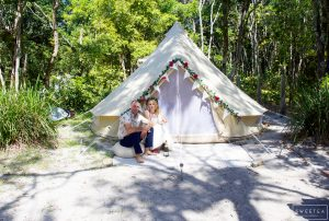 Wedding couple at Waves Campground
