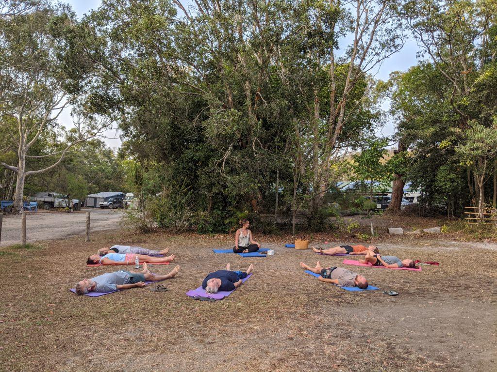 Yoga class summer